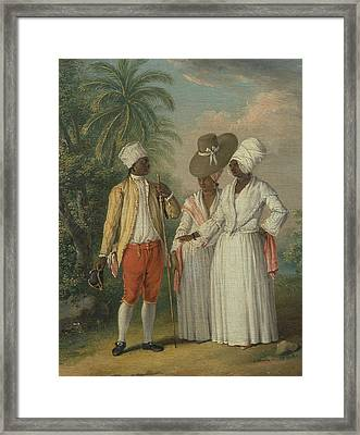 Free West Indian Dominicans Framed Print by Agostino Brunias