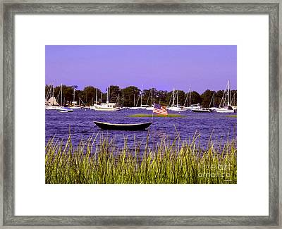Freedom Bristol Harbor Rhode Island Framed Print by Tom Prendergast
