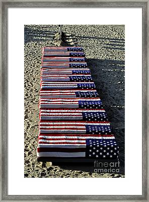 Freedom Costs Framed Print by Clayton Bruster