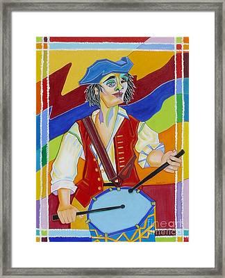 Freedom Drummer Framed Print by Loretta Orr