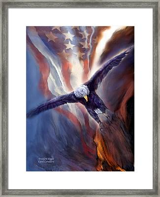 Freedom Eagle Framed Print by Carol Cavalaris