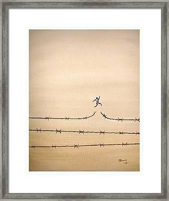 Freedom Framed Print by Edwin Alverio