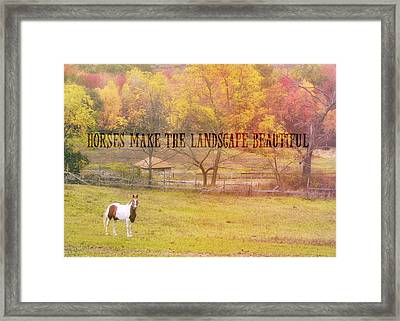 Freedom Farms Quote Framed Print by JAMART Photography