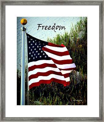 Freedom Framed Print by Gerlinde Keating - Galleria GK Keating Associates Inc