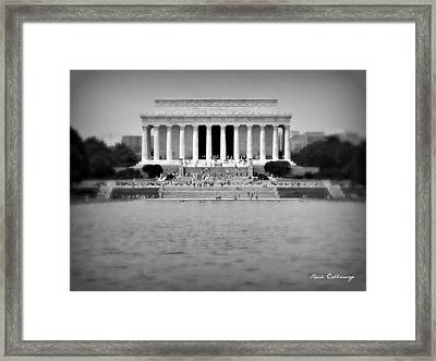 Freedom In Focus The Lincoln Monument  Framed Print