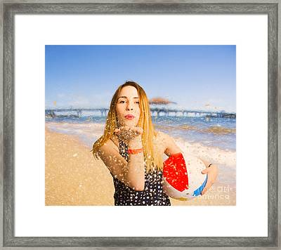 Freedom In Summer Vacation  Framed Print by Jorgo Photography - Wall Art Gallery