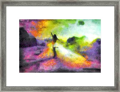 Freedom In The Rainbow Framed Print by Mario Carini
