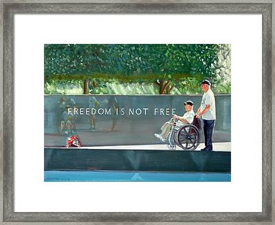 Freedom Is Not Free Framed Print by Gordon Bell