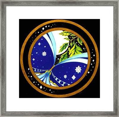 Freedom  Mandala Series Number Eleven Framed Print by Pam Ellis