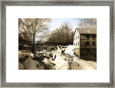 Freedom Mill Stream Framed Print