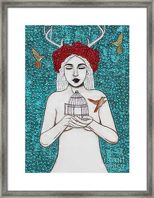 Framed Print featuring the mixed media Freedom by Natalie Briney