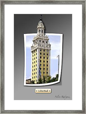 Freedom Framed Print by Nelson Rodriguez