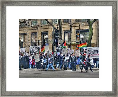 Freedom Of Assembly Framed Print