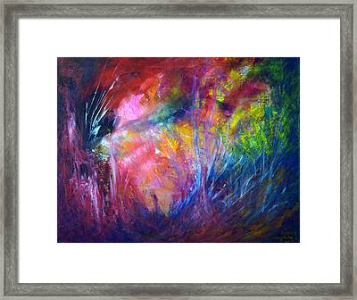 Freedom Of The Dragon Fly Framed Print