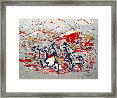 Freedom On The Open Range Framed Print by J R Seymour
