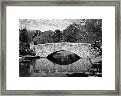 Freedom Park Bridge In Black And White Framed Print