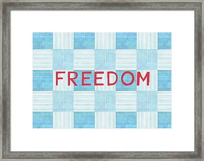 Freedom Patchwork Framed Print