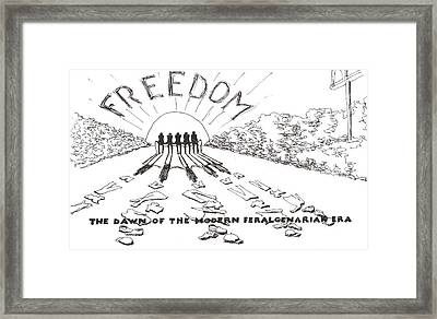 Freedom Framed Print by R  Allen Swezey
