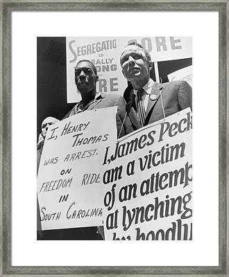 Freedom Riders James Peck, Head Framed Print