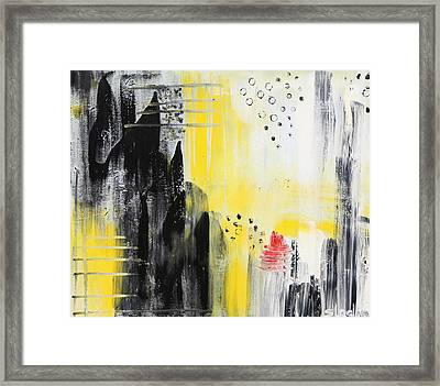 Framed Print featuring the painting Freedom by Sladjana Lazarevic