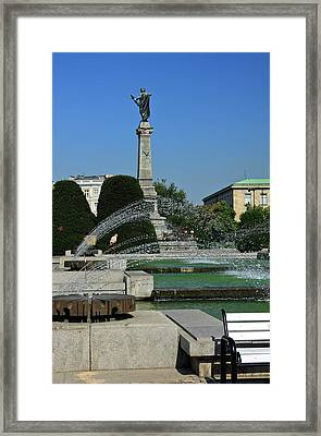 Freedom Square Monument  Framed Print by Sally Weigand