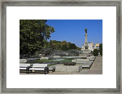 Freedom Square Ruse Bulgaria Framed Print by Sally Weigand