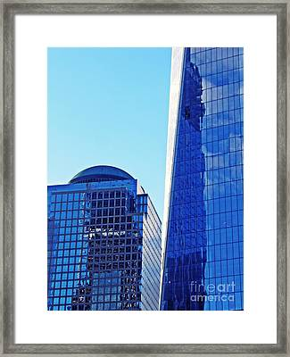 Framed Print featuring the photograph Freedom Tower And 2 World Financial Center by Sarah Loft