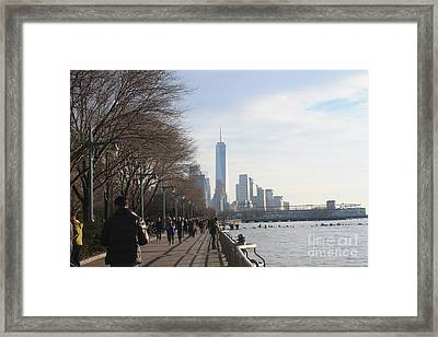 Freedom Tower As Seen From The Village Framed Print by John Telfer