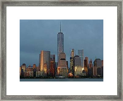 Freedom Tower At Dusk Framed Print