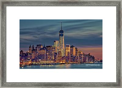 Freedom Tower Construction End Of 2013 Framed Print