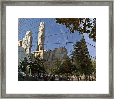 Ground Zero Reflection Framed Print