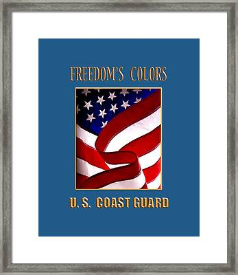 Freedom's Colors Uscg Framed Print by George Robinson