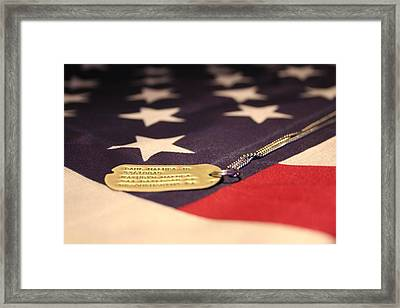 Framed Print featuring the photograph Freedom's Price by Laddie Halupa