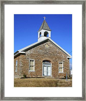 Freedonia Baptist Church Framed Print