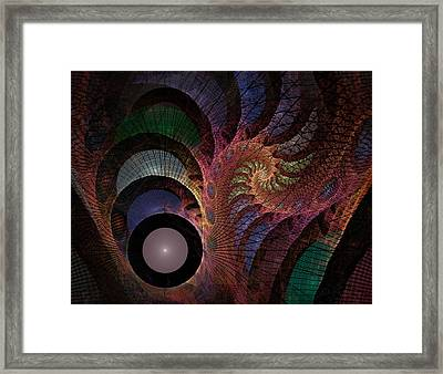 Framed Print featuring the digital art Freefall - Fractal Art by NirvanaBlues