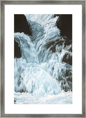 Freefall - Nine Horses Descend The Falls Framed Print