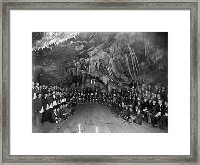 Freemason Meeting 1897 Framed Print by Granger
