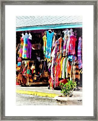 Freeport, Bahamas - Shopping At Port Lucaya Marketplace Framed Print