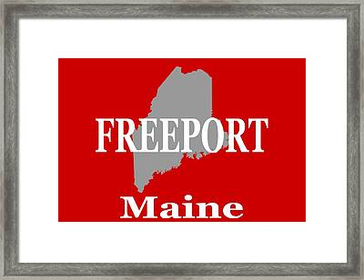 Framed Print featuring the photograph Freeport Maine State City And Town Pride  by Keith Webber Jr