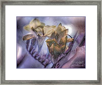 Framed Print featuring the photograph Freesia Carved One by Lance Sheridan-Peel