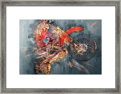 Freestyle Motocross Framed Print