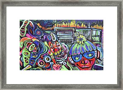 Freestylepainting Framed Print by Ottoniel Lima