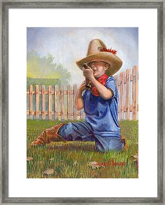 Freeze Buckaroo Framed Print
