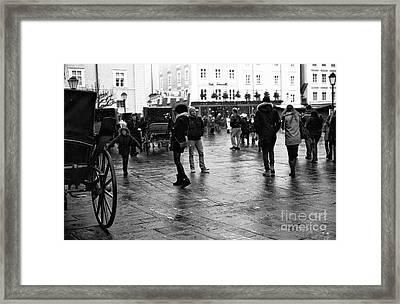 Freeze Frame In Salzburg Framed Print by John Rizzuto