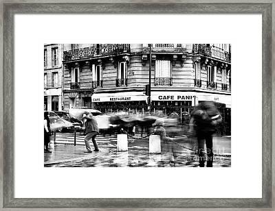 Freeze Frame Paris Framed Print