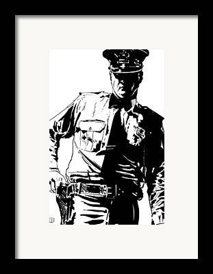 Police Officer Framed Prints