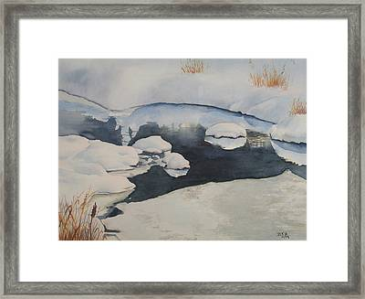 Freeze Up Framed Print by Debbie Homewood