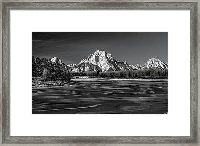 Freeze-up Framed Print