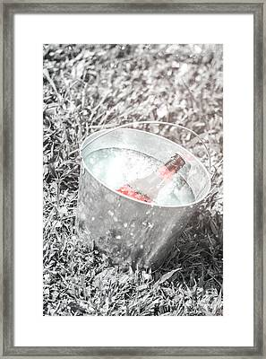 Freezing Cold Pale Ale Beer At Winter Festival Framed Print by Jorgo Photography - Wall Art Gallery