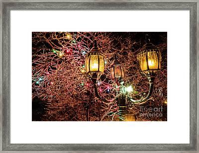 Christmas Lamp Framed Print